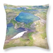 Lakes From The Seaplane In Katmai National Preserve-alaska Throw Pillow