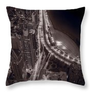 Lakeshore Drive Aloft Bw Warm Throw Pillow
