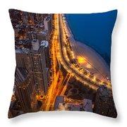 Lakeshore Drive Aloft Throw Pillow