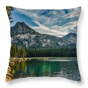 Lakeshore Throw Pillow by Robert Bales