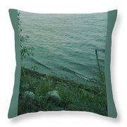 Lakeside At Dusk Throw Pillow