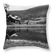 Lakeside Cabin Throw Pillow