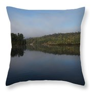 Lakeside Cottage Living - Gentle Morning Fog Throw Pillow