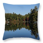 Lakeside Cottage Living - Reflecting On Relaxation Throw Pillow