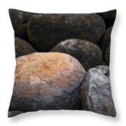 Lakeside Rocks At Lake Annette Throw Pillow