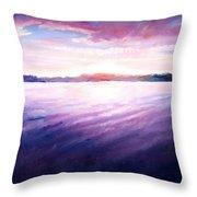 Lakeside Sunset Throw Pillow by Shana Rowe Jackson