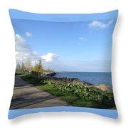 Lakeside Walk Throw Pillow
