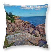 Lakies Head In Cape Breton Highlands Np-ns Throw Pillow
