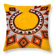 Lakota Souix Dance Collar Throw Pillow