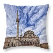 Laleli Tulip Mosque In Istanbul Throw Pillow