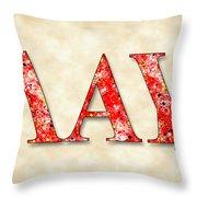 Lambda Alpha Upsilon - Parchment Throw Pillow