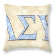 Lambda Sigma Upsilon - Parchment Throw Pillow