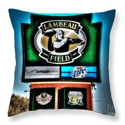 Lambeau Field Entrance Throw Pillow