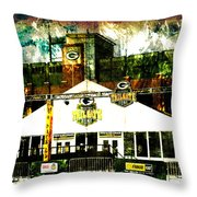 Lambeau Field - Tundra Tailgate Zone Throw Pillow
