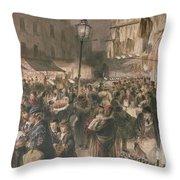 Lambeth Market Throw Pillow