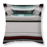 Lambo Logo And Tail Detail Grey Throw Pillow