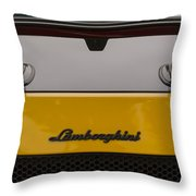 Lambo Logo Yellow Throw Pillow