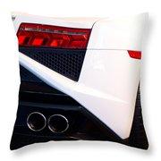 Lamborghini Gallardo Tail Light Pipes Throw Pillow