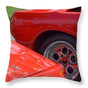 Lamborghini And Lotus Throw Pillow