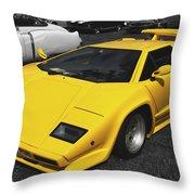 Lamborghini Countach Throw Pillow
