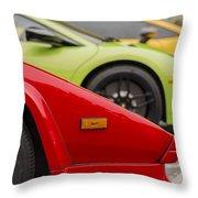 Lamborghini Countach Nose Throw Pillow