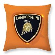 Lamborghini Emblem -0525c55 Throw Pillow