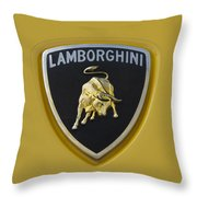 Lamborghini Emblem 2 Throw Pillow