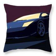 Lamborghini Murcielago - Pop Art Throw Pillow