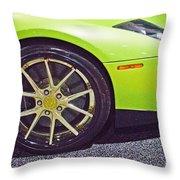 Lamborghini Verde  Throw Pillow