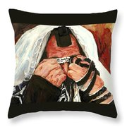 Lamentations Throw Pillow