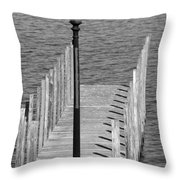 Lamp And Pier Throw Pillow