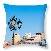 Lamp In Agios Nikolaos Throw Pillow