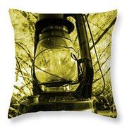 Lamp No.8 Throw Pillow