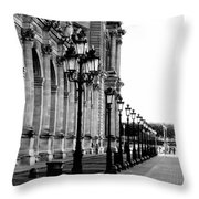 Lamp Post All Lined Up In Order Of Height Throw Pillow