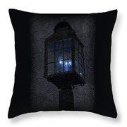 Lamp Post Blues Throw Pillow