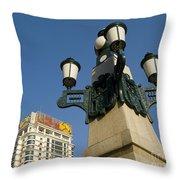 Lamp Post, China Throw Pillow