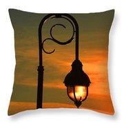 Lamp Post Glow Throw Pillow