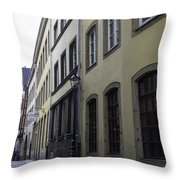 Lamp Post In Cologne Germany Alley Throw Pillow