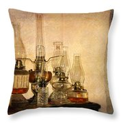 Lamps And Lace Throw Pillow