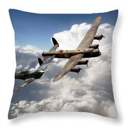 Lancaster And Spitfire  Throw Pillow