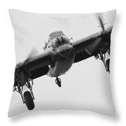 Lancaster Bomber Throw Pillow