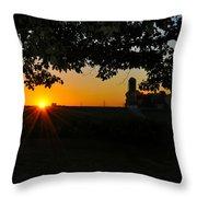 Lancaster County Morning Throw Pillow