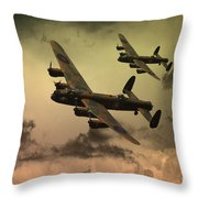 Lancaster Fire In The Sky Throw Pillow