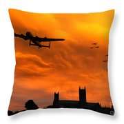 Lancaster Lincoln Sunset Throw Pillow