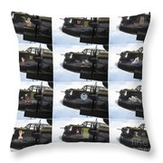 Lancaster Nose Art  Throw Pillow