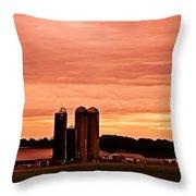 Lancaster Pa Sunset Throw Pillow