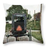 Lancaster Roads Throw Pillow