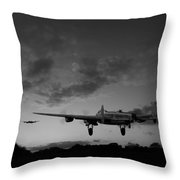 Lancasters Taking Off At Sunset Bw Throw Pillow