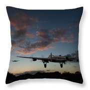 Lancasters Taking Off At Sunset Throw Pillow