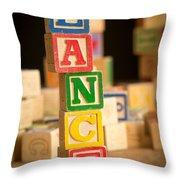 Lance - Alphabet Blocks Throw Pillow